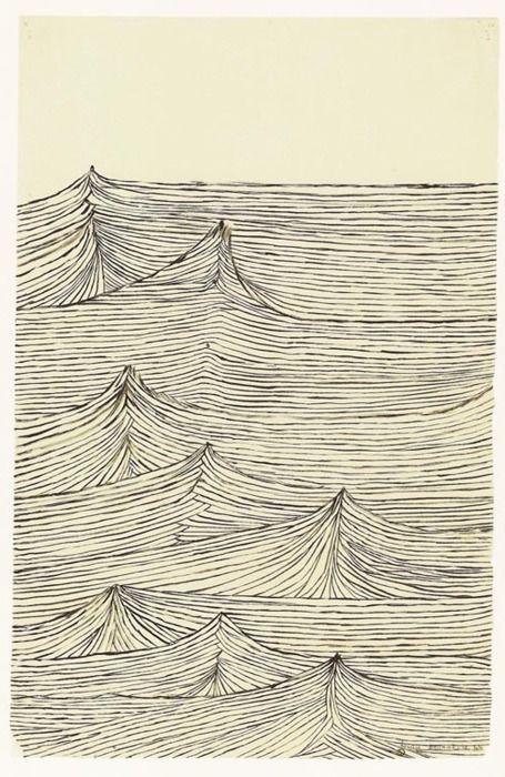 Louise Bourgeois Indigo Paint via Jean Devine