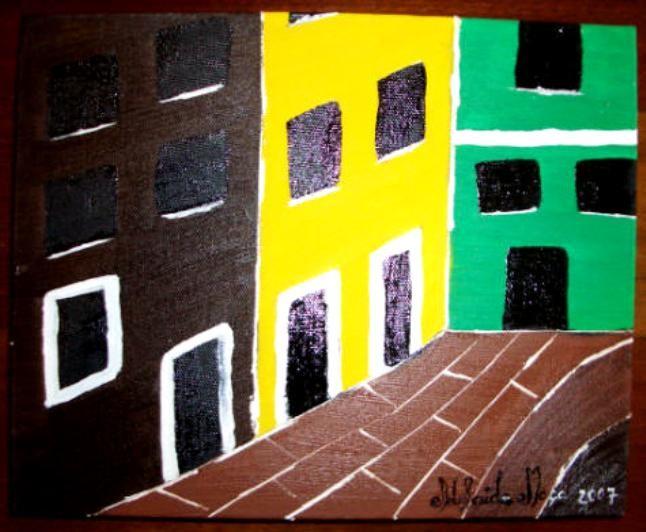 Pintora Adelaide Moça   Óleo sobre tela  TAMANHO 24*30 com 3 cm de lado