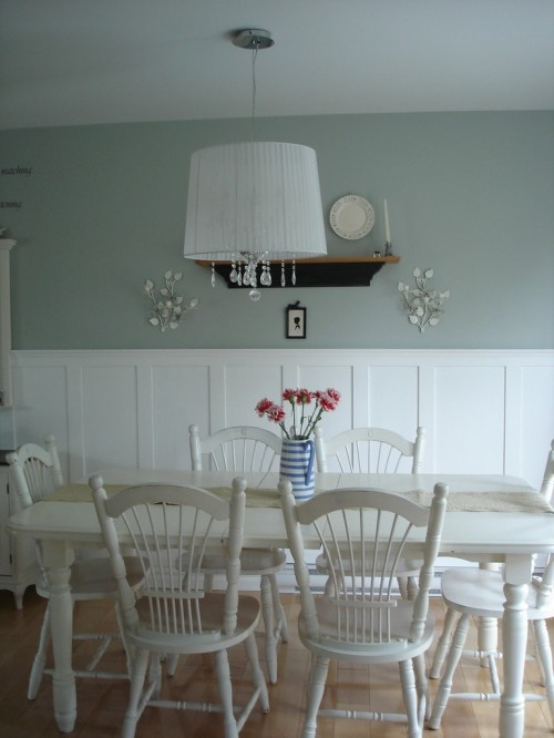 85 best wainscoting ideas images on pinterest moldings for Dining room wainscoting ideas