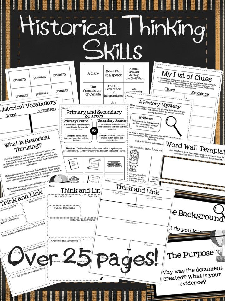 Historical thinking is a key skill for students to utilize when examining primary and secondary sources. In order for students to fully understand a source, they must examine it in-depth. They must return to the text multiple times during their examination. These activities will help students master this key skill!