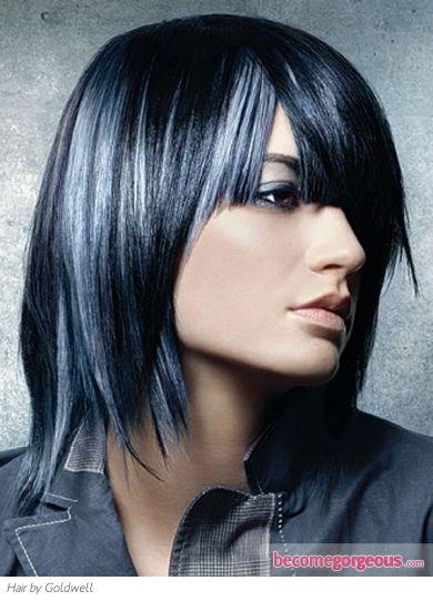 black and grey hair