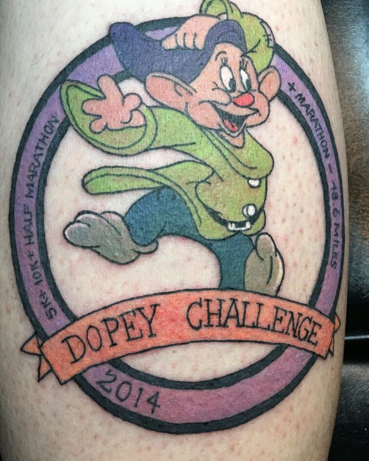 Pin by Kim DeLaney on tattoos Running tattoo, Dopey, Tattoos
