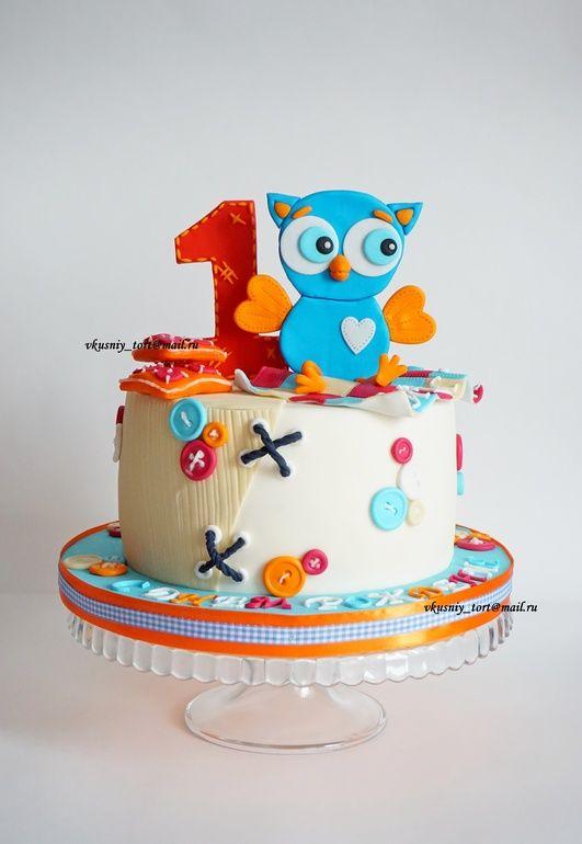 Торт с совой для мальчика - Кондитерская - Babyblog.ru