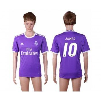 Real Madrid 16-17 James Rodriguez 10 Bortatröja Kortärmad   #Billiga  #fotbollströjor