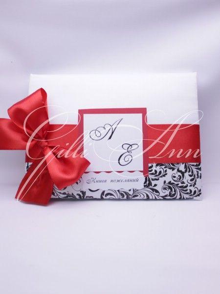 Книга пожеланий Gilliann Red Rose AST017 #guestbook #wedding guestbook