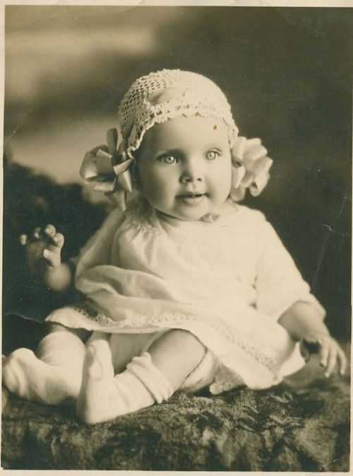 Antique photo of angelic baby