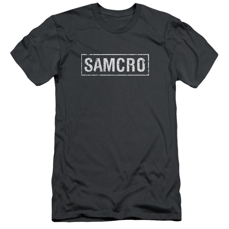 Sons Of Anarchy/Samcro Short Sleeve Adult T-Shirt 30/1 in Charcoal