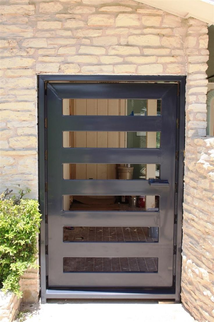 Hand made modern entryway door gate by across metal for Modern front gate design