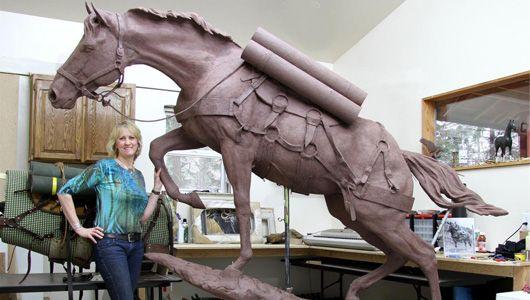AMAZING WAS HORSE STATUE