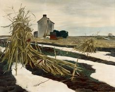 theerinater: Andrew Wyeth, Winter Corn Fields,... | Tail Feathers