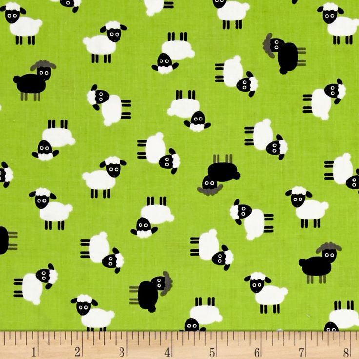 Kaufman Urban Zoology Minis Sheep Green from @fabricdotcom  Designed by Ann Kelle for Robert Kaufman, this cotton print is perfect for quilting, apparel and home decor accents. Colors include green, white, black, and grey.
