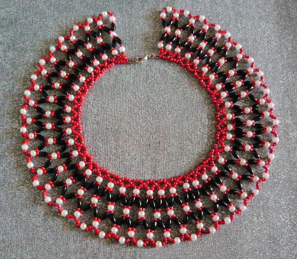 Free Pattern For Beautiful Beaded Necklace Passion | Beads Magic