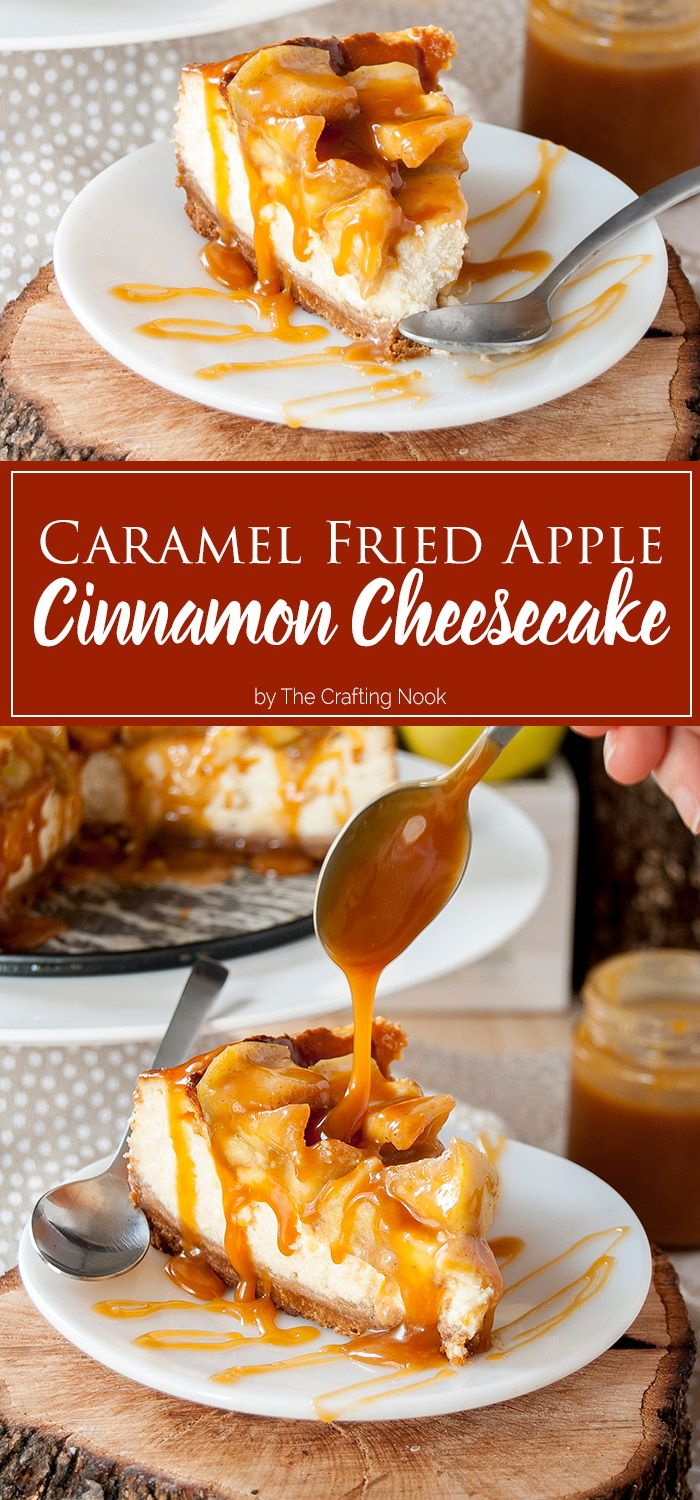 This Caramel Fried Apple Cinnamon Cheesecake will add to your Fall gatherings or any afternoon a boost of flavor and satisfying sweetness with a hint of salty sensation. I made this dessert for my hubby's birthday and it turned out delicious.