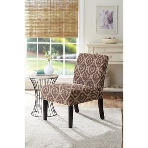 Better Homes And Gardens Accent Chair, Print Brown