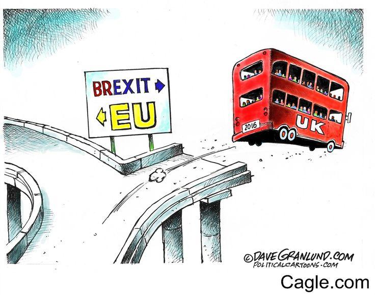 UK exits EU by cartoonist Dave Granlund published on 2016-06-24 07:06:47 at Cagle.com. Dave Granlund's cartoons have appeared in the <em>New York Times</em>, <em>Chicago Tribune</em>, <em>Christian…