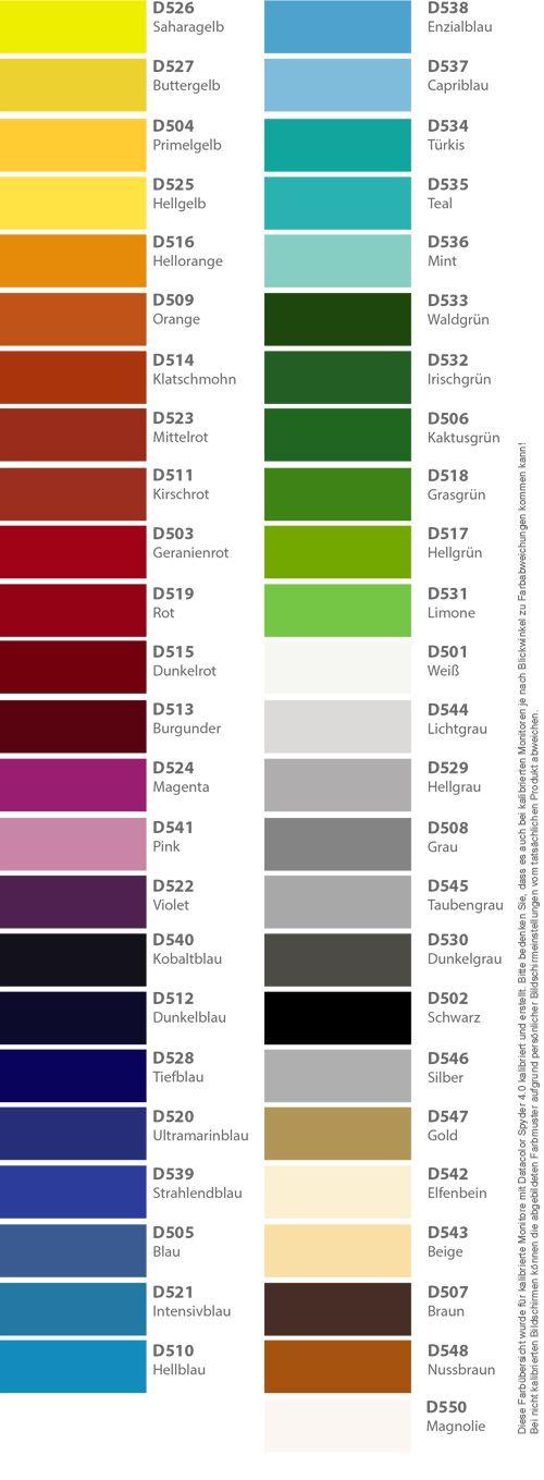 Klebefolie in 48 Farben glänzend und matt