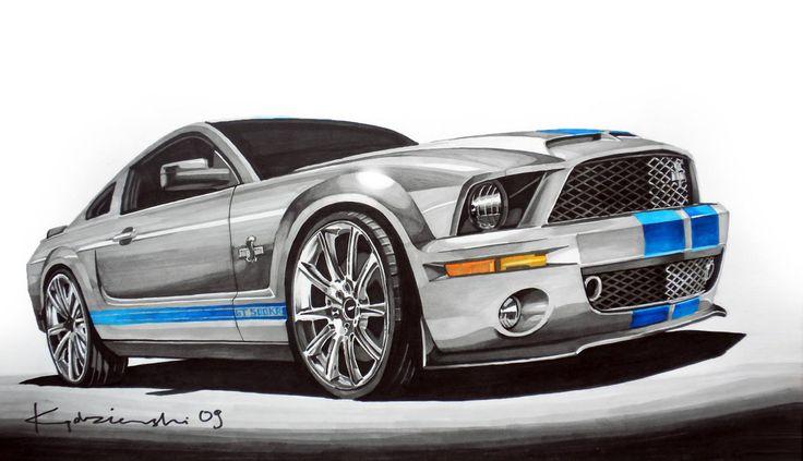 Ford Mustang Shelby KR Markers 42x29cm 2009y  Konrad Kędzierski