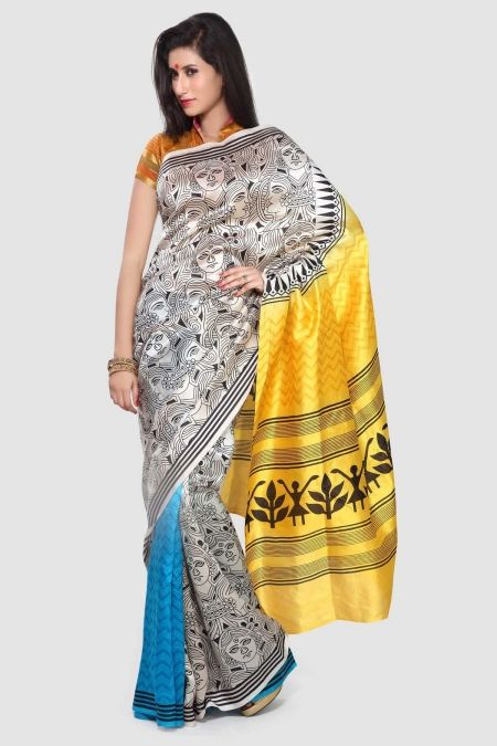 17 Best images about Warli Art Sarees on Pinterest | Loom ...