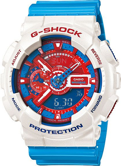 March 2013 Release // G-Shock Blue and Red Series Limited Edition //  GA-110AC-7AJ // Free Shipping within Australia