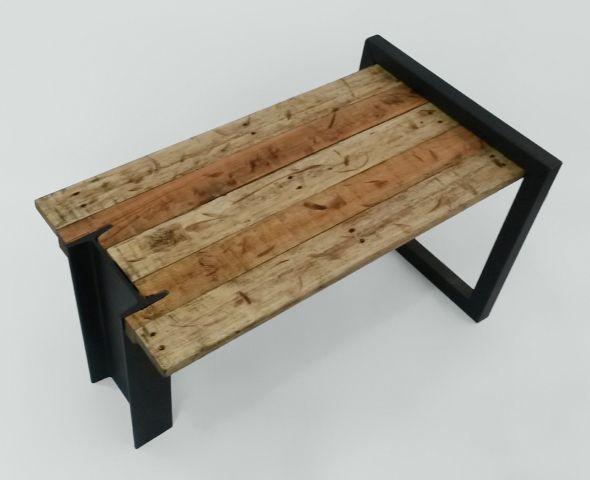 rustic metal table