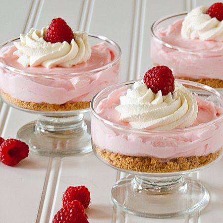 Mini No Bake Raspberry Lemonade Cheesecakes