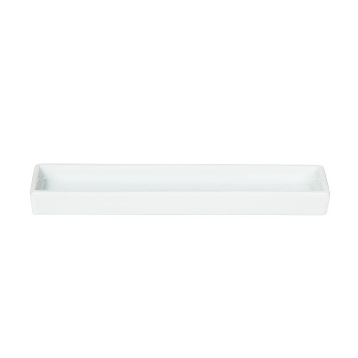 Decor Walther Rectangular White Porcelain Tray