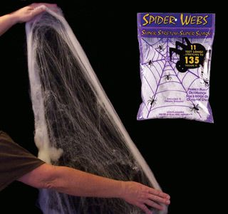 how to use halloween stretchable spider webs - Spider Web Halloween Decorations
