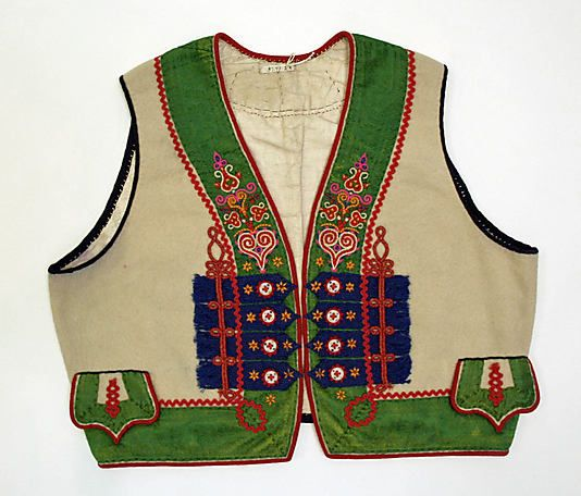 Ensemble. Date: 19th century. Culture: Slovak. Medium: silk, linen, wool, metal.