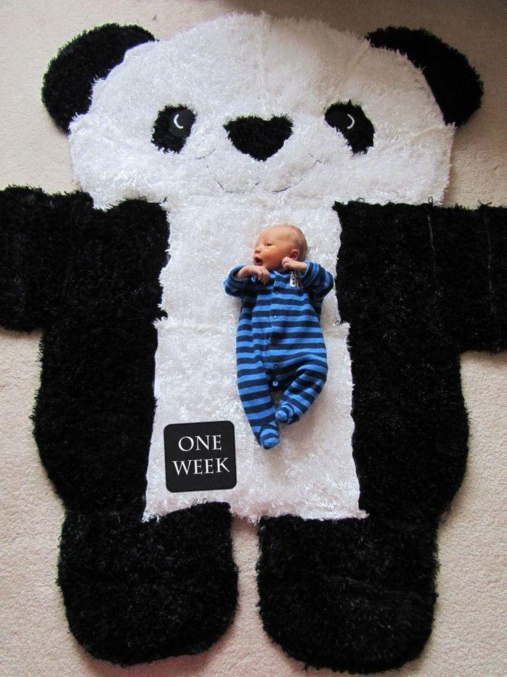 Panda rug baby size measurement