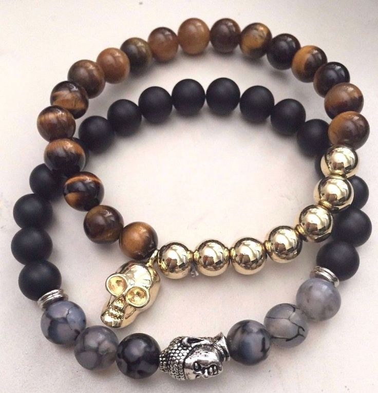 Marz Mens Beaded Double Bracelet TWO FOR ONE Silver and Gold NEW #Marz #Beaded#new #nwt #nib #designer #newlisting #endingsoon #freeshipping #30return #sale #auction #discounted #markdown #rare #bracelet #cuff #bangle #lagos #caviar #beaded ##gold #hematite #onxy #silver #mens #budha #skeleton #black #brown