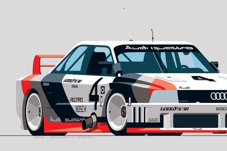 1989 audi 90 quattro imsa gto print cars motor sport. Black Bedroom Furniture Sets. Home Design Ideas