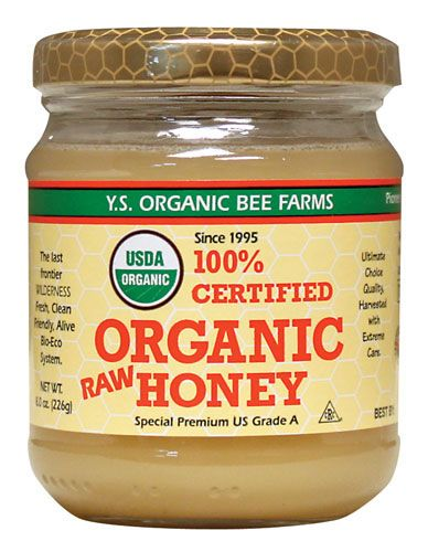 Organic and RAW (plain honey isn't as good) anti-fungal anti viral..helps with wound healing contains B vitamins, minerals and vitamin c...and it's delish!