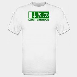 Last Chance T-shirt - laatste kans om te ontsnappen bruidegom - vrijgezellenfeest mannen