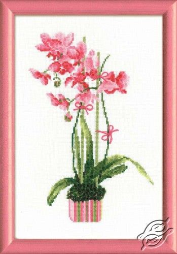 Pink Orchids - Cross Stitch Kits by RIOLIS - 1162