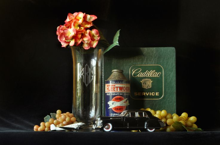 """""""Mom's Vase with My 1941 Black Cadillac Fleetwood,"""" Archival Digital Color Print, 11 x 14 inches"""