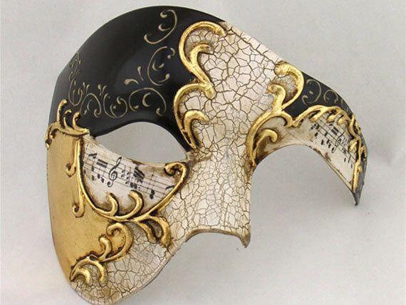 Phantom Venetian Masquerade Mask for Men Black & Gold - Italian Mask - Half Mask - Masquerade - Costume Ball Event - Prom - Halloween Mask by SoCalDesignCo on Etsy https://www.etsy.com/listing/262156022/phantom-venetian-masquerade-mask-for-men