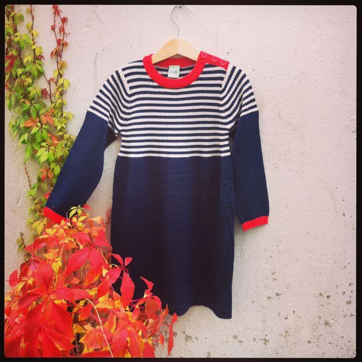 FUB - Rib dress, Navy. 100% merino wool www.markusogmolly.no