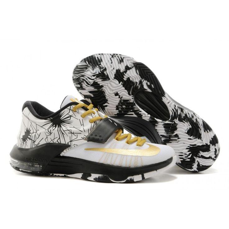 Nike_Zoom_KD_VII_7_Mens_Shoes_2015_New_White_Black_Gold · Nike Air ...