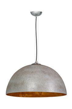 Hanglamp Mezzo Tondo Beton Grijs / Goud 50cm Ø