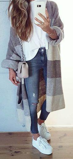 35 Casual Outfits für den Herbst, wenn Sie nichts zu tragen haben – Dulia Murdaca- # Cas