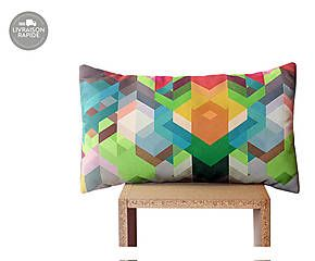 Housse de coussin LIME GREEN & TEAL - 50*30