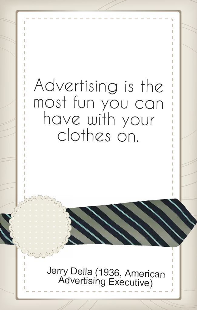 #Advertising quote!