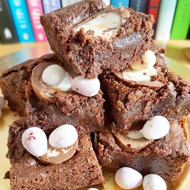 Happy Easter | Gooey Cadbury Creme Egg Brownies