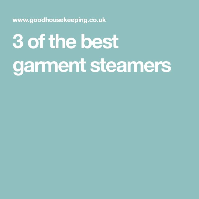 3 of the best garment steamers