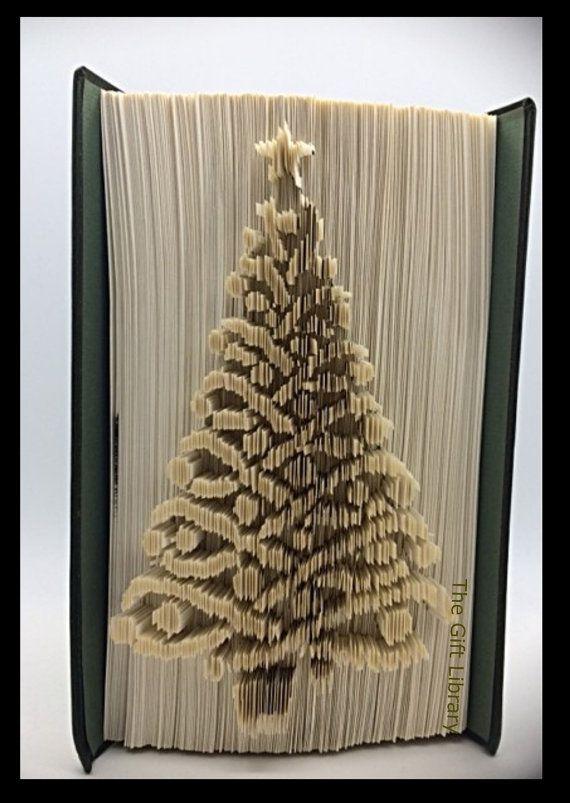Folded Book Art- Christmas Tree
