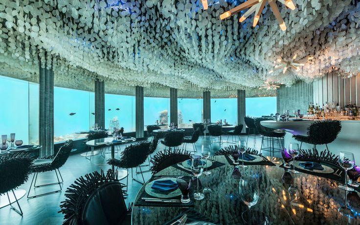 The Most Insane Restaurants Around the World: Underwater Restaurant in Maldives