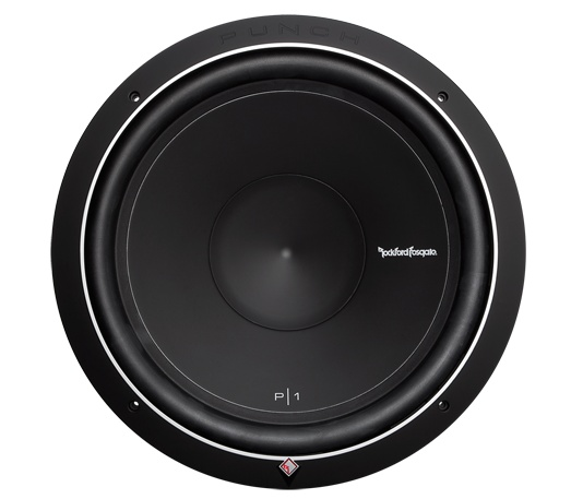 """P1S2-15 15"""" Punch P1 2-Ohm SVC Subwoofer. Rockford Fosgate P1 15"""" is the first in a family of famous """"Punch"""" subwoofers. The P1S2-15 features a 2-Ohm voice coil, 250 Watts RMS power handling, and can accommodate a grille insert using the included soft touch ABS trim ring."""