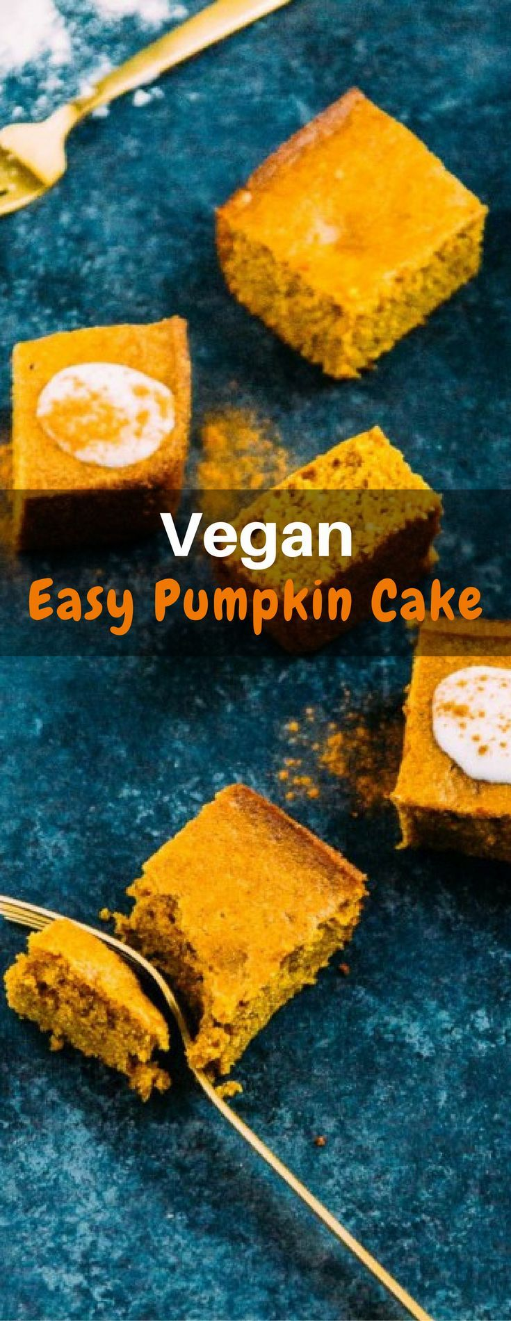 I've been looking for a super easy, go-to pumpkin dessert that doesn't take much time (30 minutes for this cake, check!) and doesn't require ingredients that I don't always have around (check!). The best part about this easy pumpkin cake is that it's obviously vegan, doesn't require more than one bowl, and can be thrown together from start to finish to cooling in under an hour. Pumpkin dessert perfection!