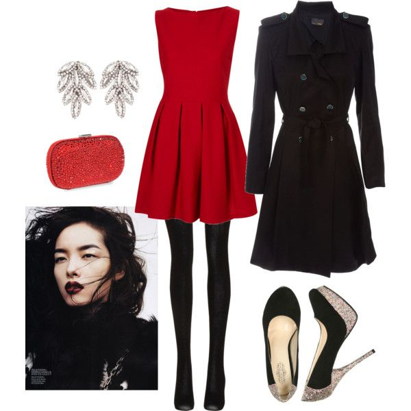 Find and save ideas about Christmas party outfits on Pinterest. | See more ideas about Outfits for christmas party, Dresses for christmas party and Holiday party outfit. Women's fashion Ready for a night out--put hair up in messy twist up-do for a more glamorous feel .