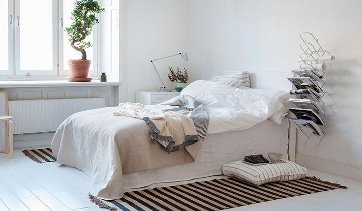 Bedspreads and Abelvär headboard cover | Bemz